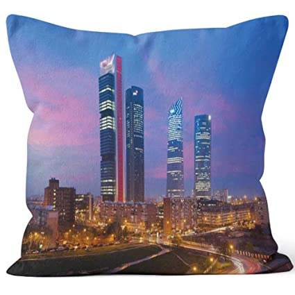 Amazon.com: Madrid Four Towers Financial District Skyline at ...