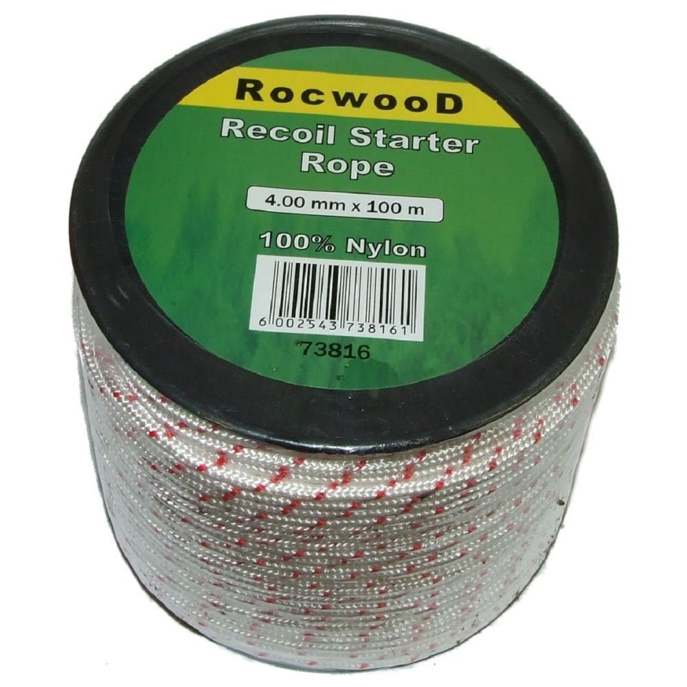Recoil Pull Cord 4mm x 100 Metres Starter Rope For Some Husqvarna Chainsaws