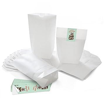25 pequeñas blancas weihnac htstüten bolsas de regalo bolsas ...