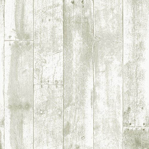 REPEEL RP434 Reclaimed Wood Removable Peel & Stick Wallpaper, 20.5