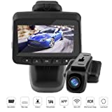 Amazon Price History for:Dash Cam Dash Camera Recorder FHD1080P Built-In WiFi APP Support G-Sensor Loop Recording Parking Monitor WDR 2.45h LCD Screen 150 wide angle