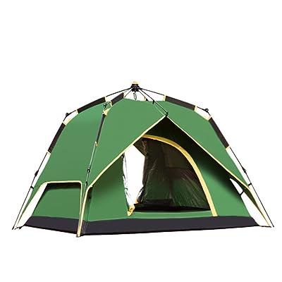 3-4 Personnes Tente De Camping Automatique Combinaison De Pluie 215 * 215 * 145cm,Green-3-4People