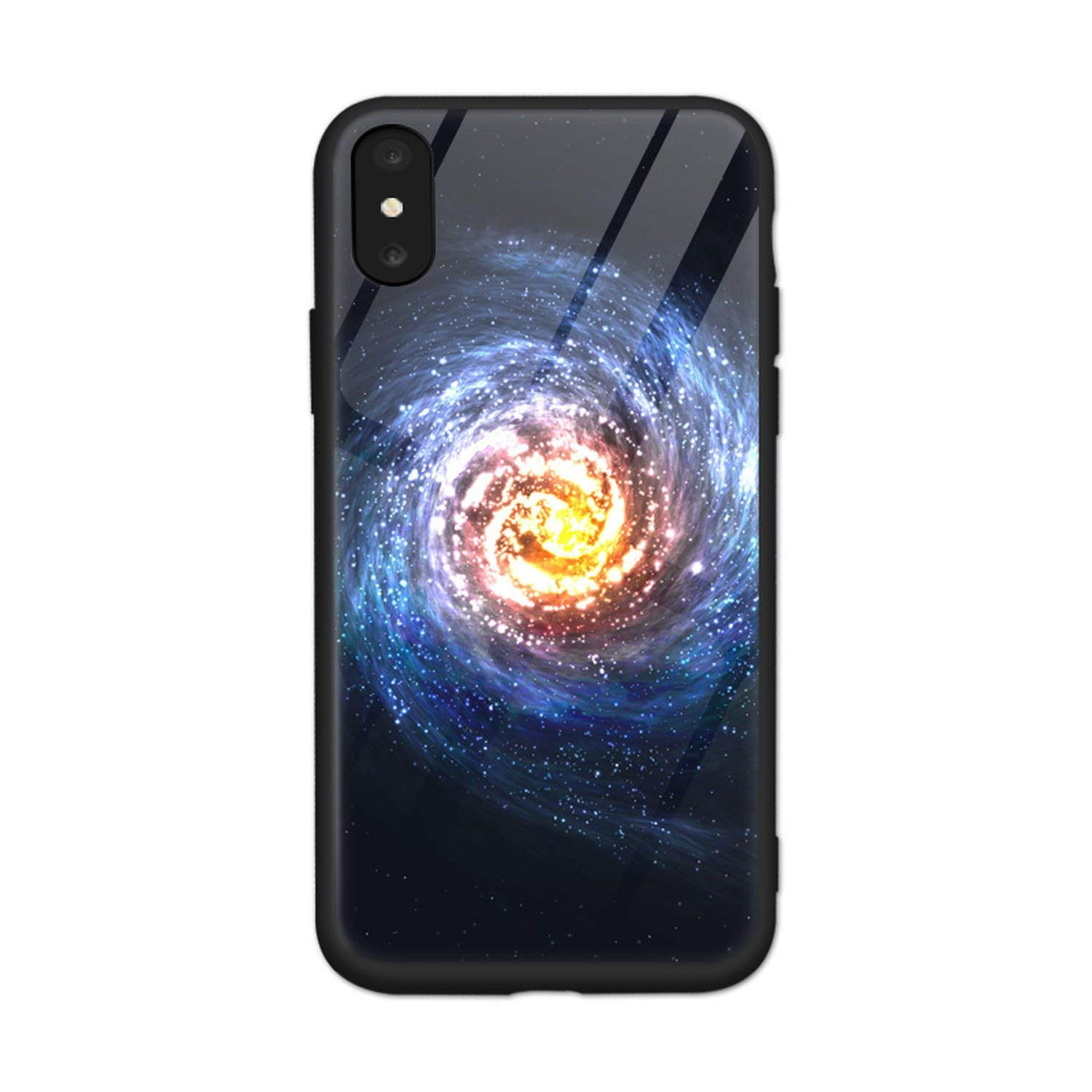 Amazon.com: Tempered Glass Phone Case for iPhone Xs Max Star ...