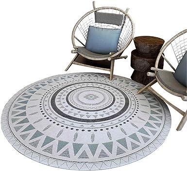 Amazon Com Round Carpet Hanging Basket Rattan Chair Study Bedroom Living Room Carpet Simple Modern Washable Carpet Furniture Decor