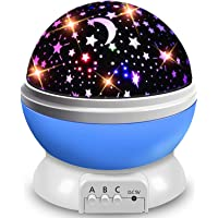 AOCHEN Star Night Light Kids, Baby Music Night Light Projector Rotation LED Night Light Lamp with 8 Colorfull Lights and…