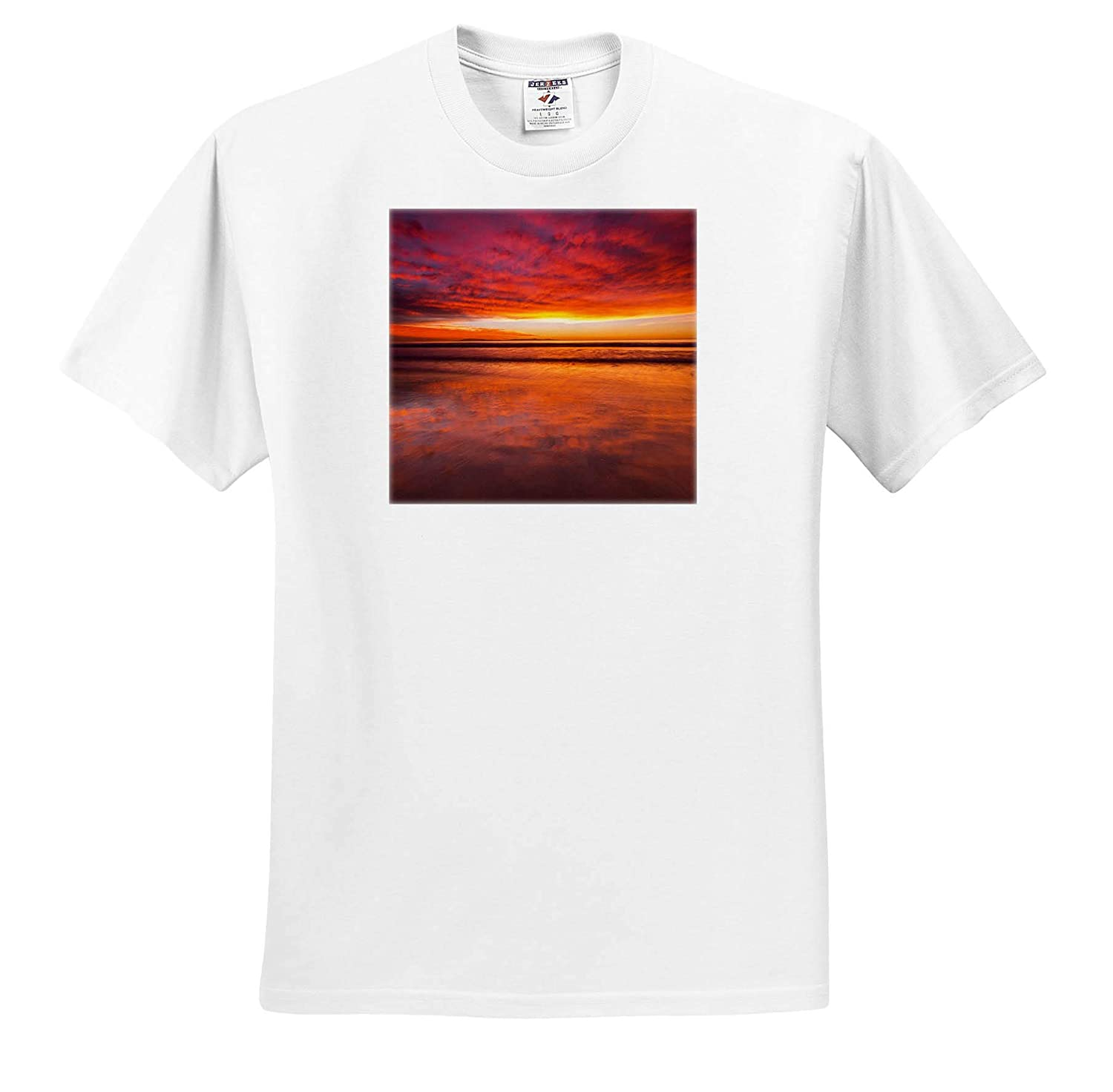 3dRose Danita Delimont Ventura Sunsets USA California Sunset from Ventura State Beach ts/_314698 Adult T-Shirt XL