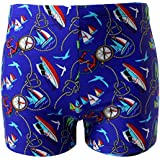 HaoLian Boys Swim Trunks Cartoon Print Cute Swim Shorts for Kids