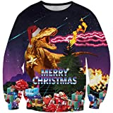 XueXian(TM) Mens Womens Couple Spring Fall Cartoon Pullover Sweater Christmas Gift (China XXXXL:Bust 44.88'',Graphic 4)