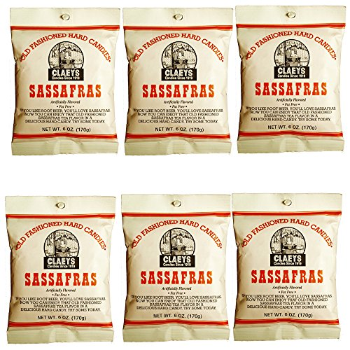 (Claeys Old Fashioned Hard Candy - 6 oz - 6 Pack - Sassafras - Since 1919)