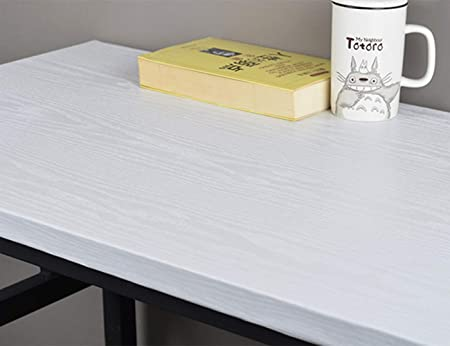 Hode Papel Pintado Vinilo Autoadhesivo Blanco Mate con Textura Papel Adhesivo para Muebles Cocina Film Adhesivo para Muebles 40X500cm