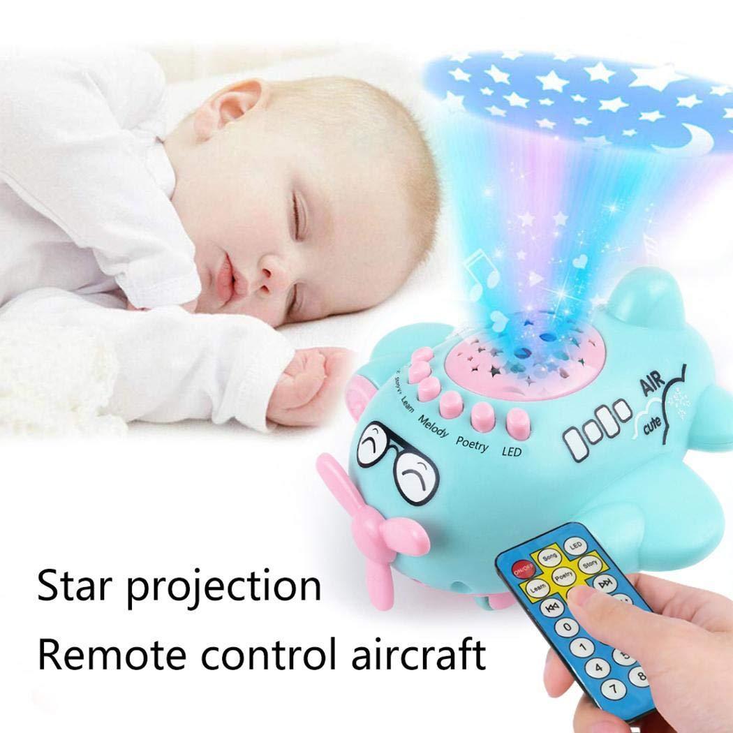 Nisels Baby Music Box-Starlight Musique Bande Dessinée Jouets enfants Lit Bell Hochet jouet Cadeau (Rose, One Size)