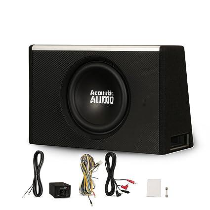 amazon com: acoustic audio aca10w powered amplified 10