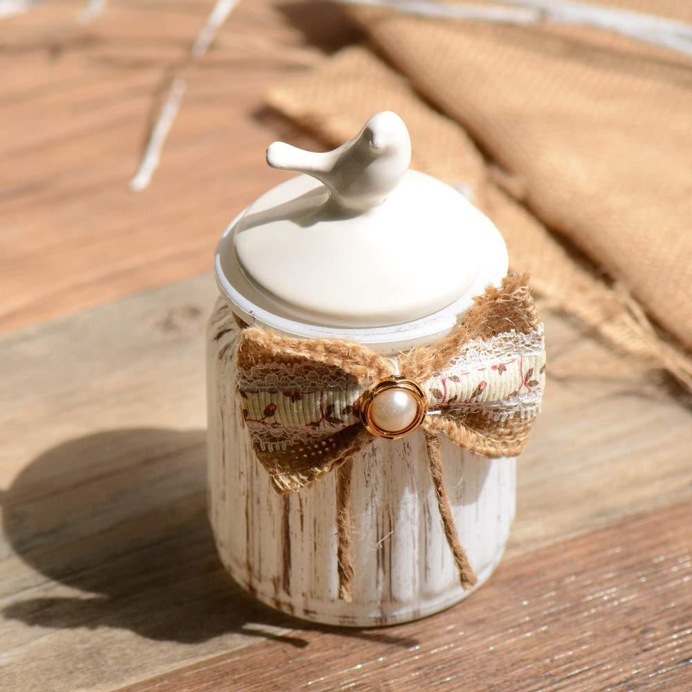 Bird Lidded Ceramic Jar, Pet Ashes Memorial