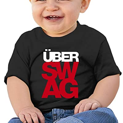 Über Swag Baby Boy Clothes Short Sleeve Graphic Toddler T Shirt Boys Girls 6-24 Month