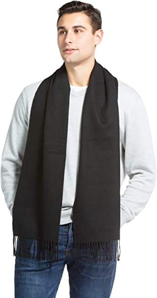 MENS STONE TEXTURED WARM KNITTED SCARF
