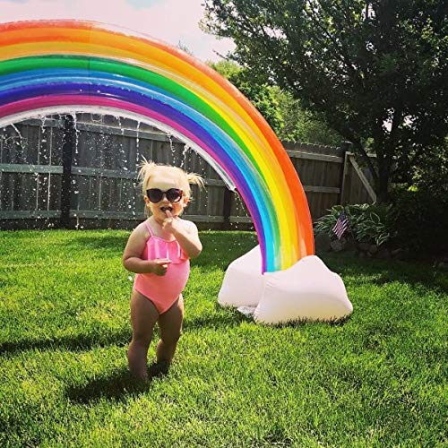 MerryXD Rainbow Sprinkler,Giant Water Inflatable Arch Sprinkler Outdoor Summer Toys for Kids by MerryXD (Image #5)
