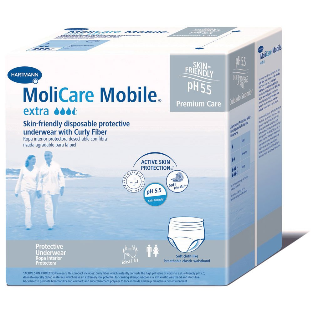 Amazon.com: MoliCare Mobile Underwear, Extra, X-Large, Case/56 (4/14s): Health & Personal Care