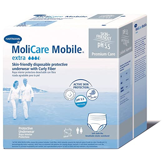 Amazon.com: MoliCare Mobile Underwear, Extra, Medium, Case/56 (4/14s): Health & Personal Care