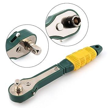 REFURBISHHOUSE Mini destornillador de cabeza 1/4 poste 6.35mm ...