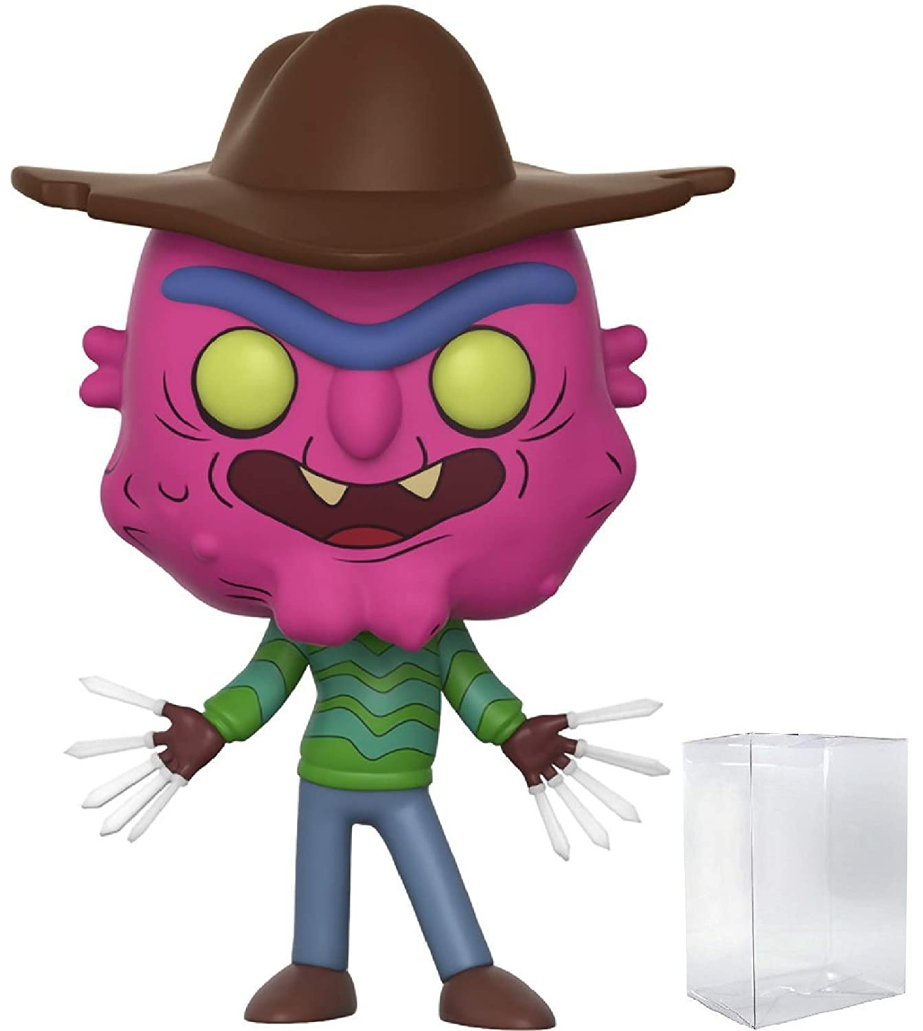 Rick and Morty Scary Terry Pop Bundled with PROTECTOR CASE Vinyl Figure and