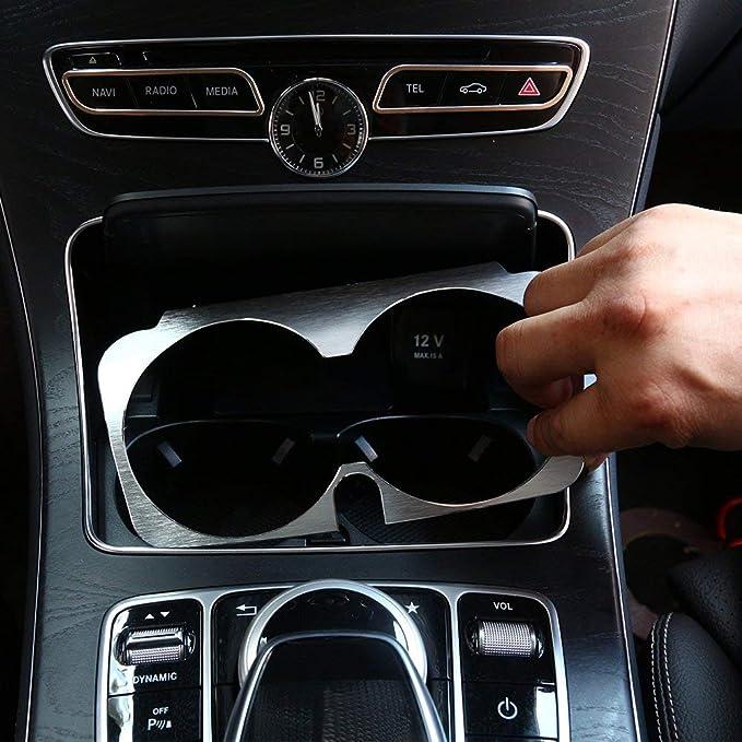 C-Klasse W205 E-W213 KZS-W253 V-W447 A2056800691 ACAMPTAR Einsatz Rahmen f/ür Mittel Becher Halter f/ür Fahrzeugfront Konsole f/ür Mercedes