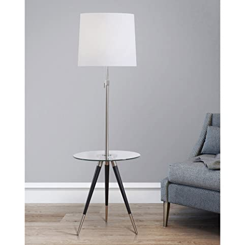 HomeTREND, Premiere Tripod Floor Lamp With Glass Tray, Floor Lamp, Modern Floor  Lamp
