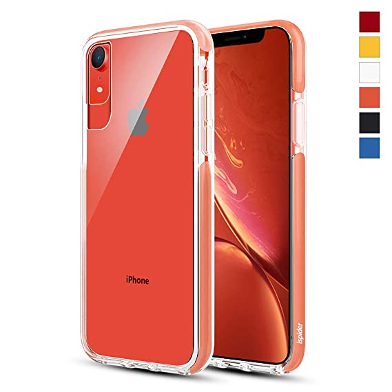 the latest 3c0c6 78641 Ispider Crystal Clear Case Designed for iPhone XR, [3-Meter Anti-Fall]  Premium Protective, Slim Case for Apple iPhone XR, [Hard PC Back and  Dual-Layer ...