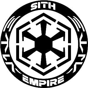 UR Impressions Blk Sith Empire Decal Vinyl Sticker Graphics for Cars Trucks SUV Vans Walls Windows Laptop Tablet|Black|5.5 Inch|JJURI002-B