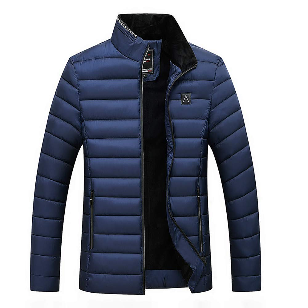 Clearance Forthery Mens Packable Down Puffer Jacket Winter Lightweight Zipper Coat(Navy, US Size M = Tag L)