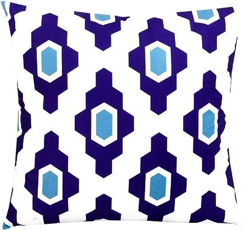 Imagen deLYFLYF Funda De Cojín Sofá Fundas De Almohada Decorativas Throw Cotton Linen Geometry Decoración para El Hogar De Rayas 45 * 45cm (Juego De 2),6