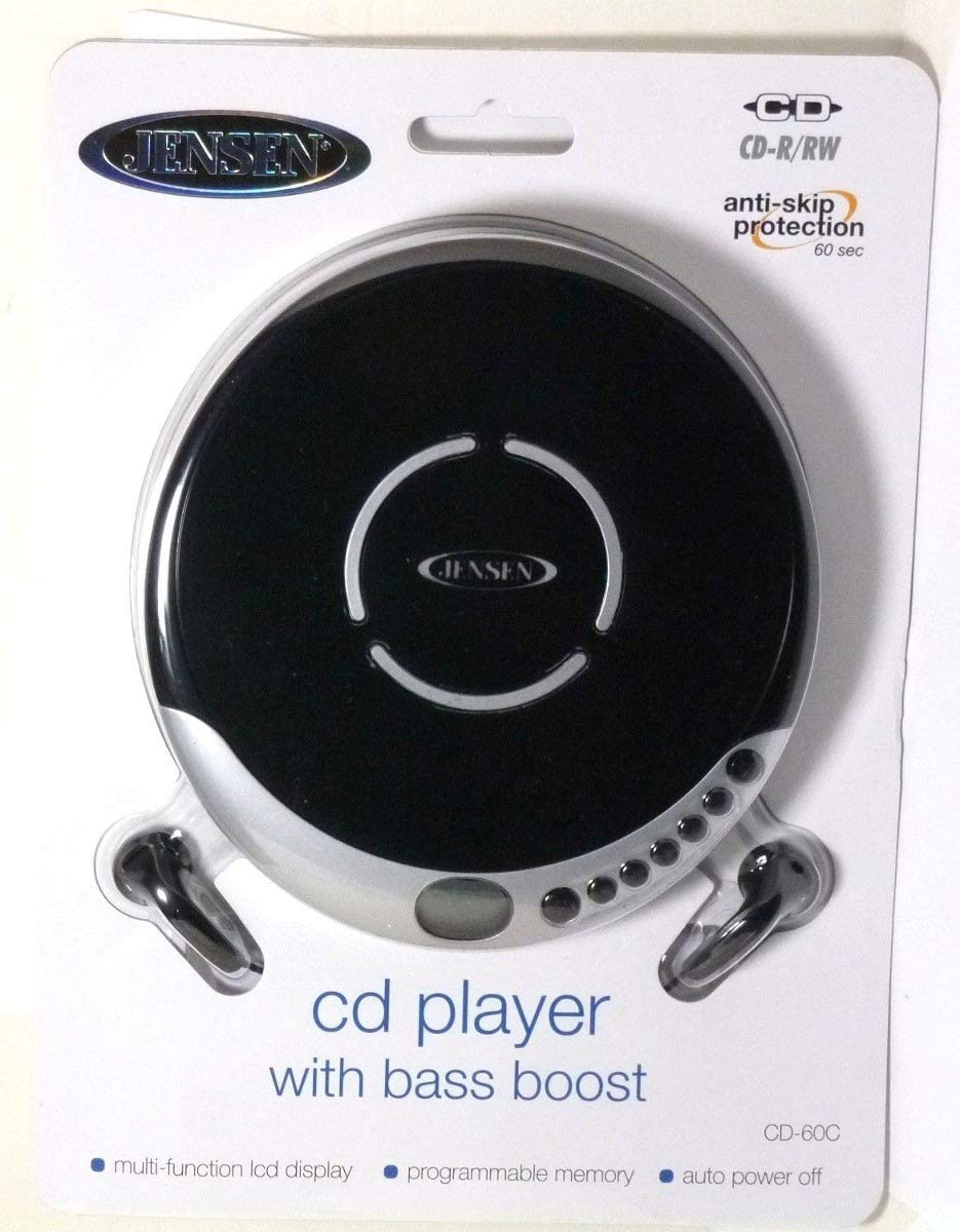 Lightweight /& Shockproof Music Disc Player /& FM Radio Pro-Earbuds for Kids /& Adults Jensen Portable CD-120BK Portable Personal CD Player Compact 120 SEC Anti-Skip CD Player