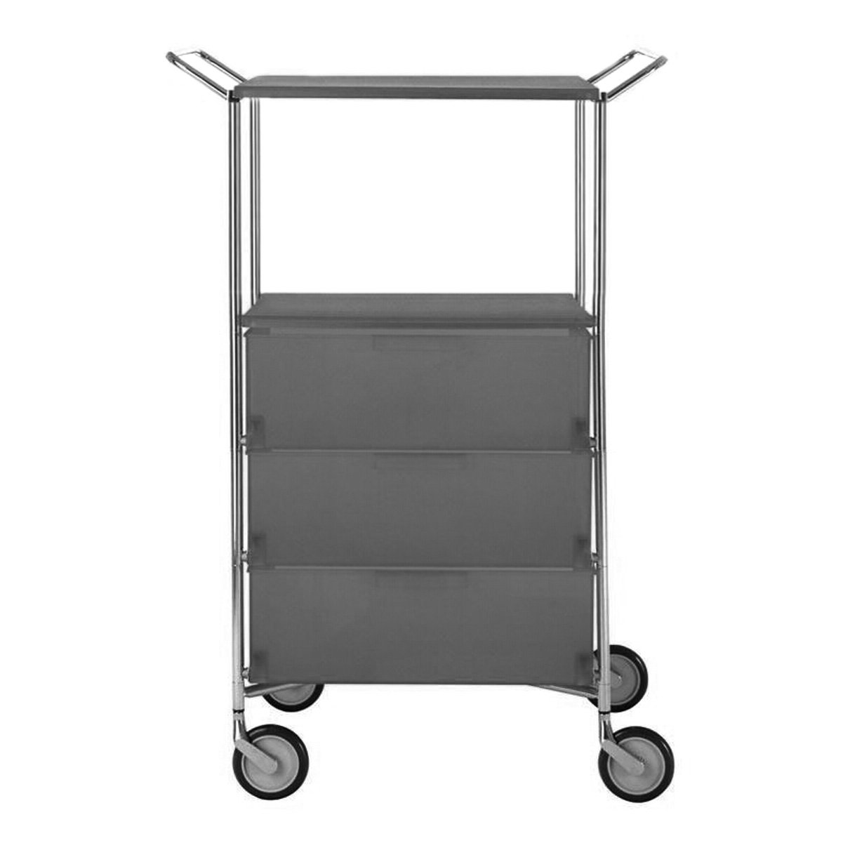 Kartell 2330L5 Container Mobil, 3 Schubladen, matt schiefergrau