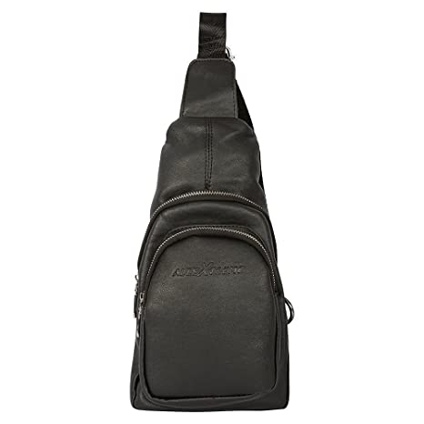 4eeba4693149 ALLEXTREME Unisex Black Gym Travel Hiking Canvas PU Leather Water Resistant  Vintage Shoulder Backpack  Amazon.in  Bags