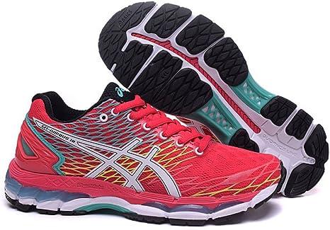 De la Mujer Luz Acolchado Gel Nimbus 18 Trail Carretera Running Sport Competencia de Carreras de Zapatos Calzado Zapatillas Deportivas en Color Rojo y Negro, Mujer, Rojo y Negro: Amazon.es: Deportes y