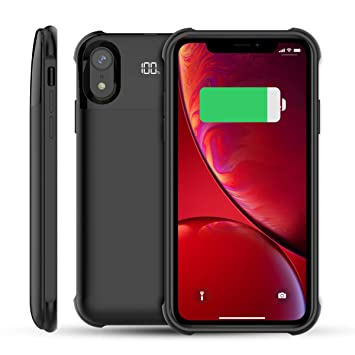 Happon Funda Bateria iPhone X iPhone XS, 5000mAh Batería Cargador Externa Ultra Carcasa Batería Recargable Power Bank Portatil para iPhone X iPhone XS ...