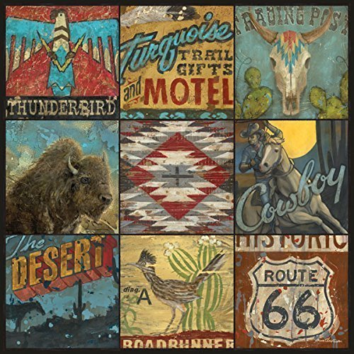 Southwestern Cowboy Desert Wall Art by Aaron Christensen