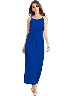 429257621001 TOTOFITS Women's Summer Cotton Knit Long Casual Maxi Dress Spaghetti Strap  Sleeveless Slip Cami Dresses