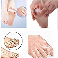 PEDIMEND™ Silicone Gel Toe Straightener (2PAIR - 4PCS) | Toe Separators For Hammer Toes | Claw Toe Corrector | Reduces Toe & Foot Discomfort | For Men & Women | Foot Care