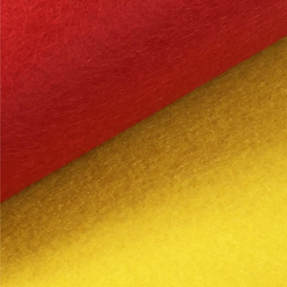 """flic-flac 42pcs 8x8/"""" Felt Fabric Sheet Assorted Color Felt Pack DIY Craft Squares Nonwoven 20x20cm"""