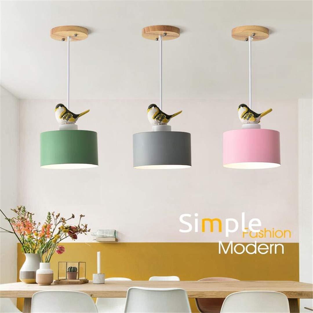GD1 Deckenleuchte Nordic Rosa Vogel Kronleuchter Einfache Moderne Restaurant Schlafzimmer Einzigen Kopf Kronleuchter Kreative Bar Flur Beleuchtung