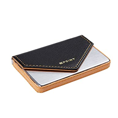 9fb56c26a722d4 Epoint Black Orange Silver Artificial Leather Selection ID Card Holder  Shopstyle Presents: Amazon.co.uk: Luggage
