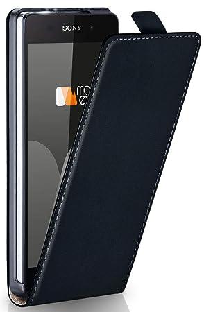 moex Sony Xperia Z2 | Hülle Schwarz 360° Klapp-Hülle Etui Thin Handytasche Dünn Handyhülle für Sony Xperia Z2 Case Flip Cover