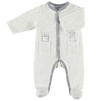 76e69c1b46df9 Noukie s Noukies Pyjama grenouillère en Velours Bébé Garçon écru 6M ...