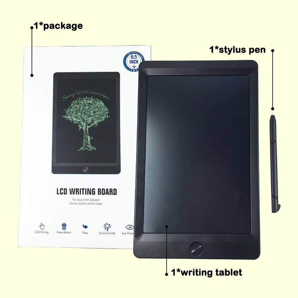 Tablette d'écriture LCD, Dessin électronique et planche à écrire, écriture à la main, tablette de dessin, cadeau, bloc à griffonner pour enfants et adultes à la maison, à l'é