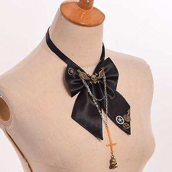 GRACEART Steampunk Engranajes Corbata de Moño con Cruzar Cráneo ...