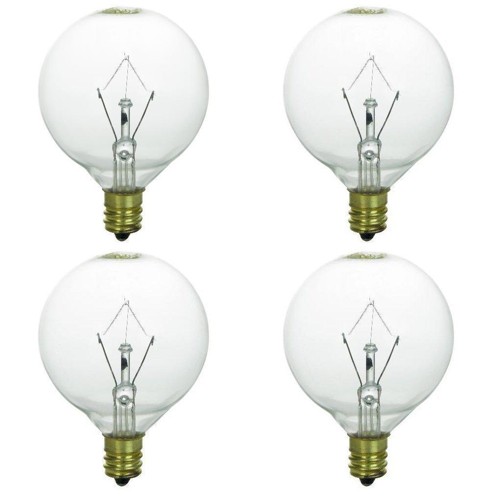 25 Watt Bulbs for Scentsy Full-Size Warmers, KE-25WLITE Extra Long Life Bulb, 25W 120 Volt, Pack of 4