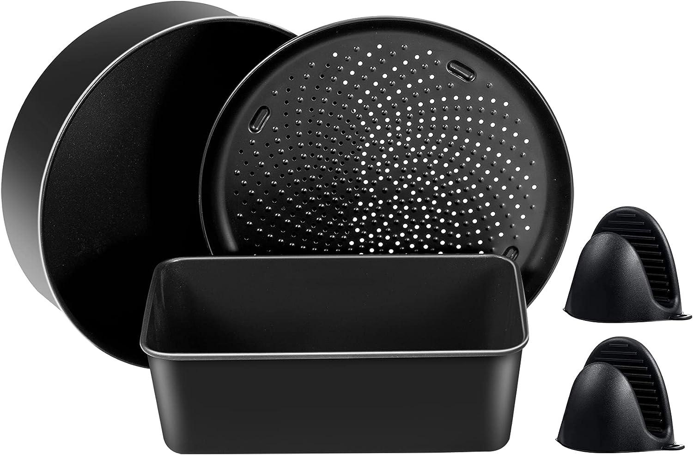 Air fryer Accessories for 6. 5 QT and 8 QT Ninja foodi,Air fryer Bake Kit with Multi-purpose pan,Crisper pan,Loaf pan, Non-Stick Coating,Dishwasher Safe