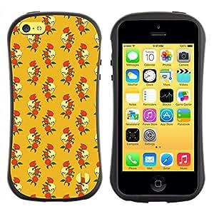 ArtSpace Premium Hybrid Back Case Cover Apple iPhone 5C ( Skull And Rose )