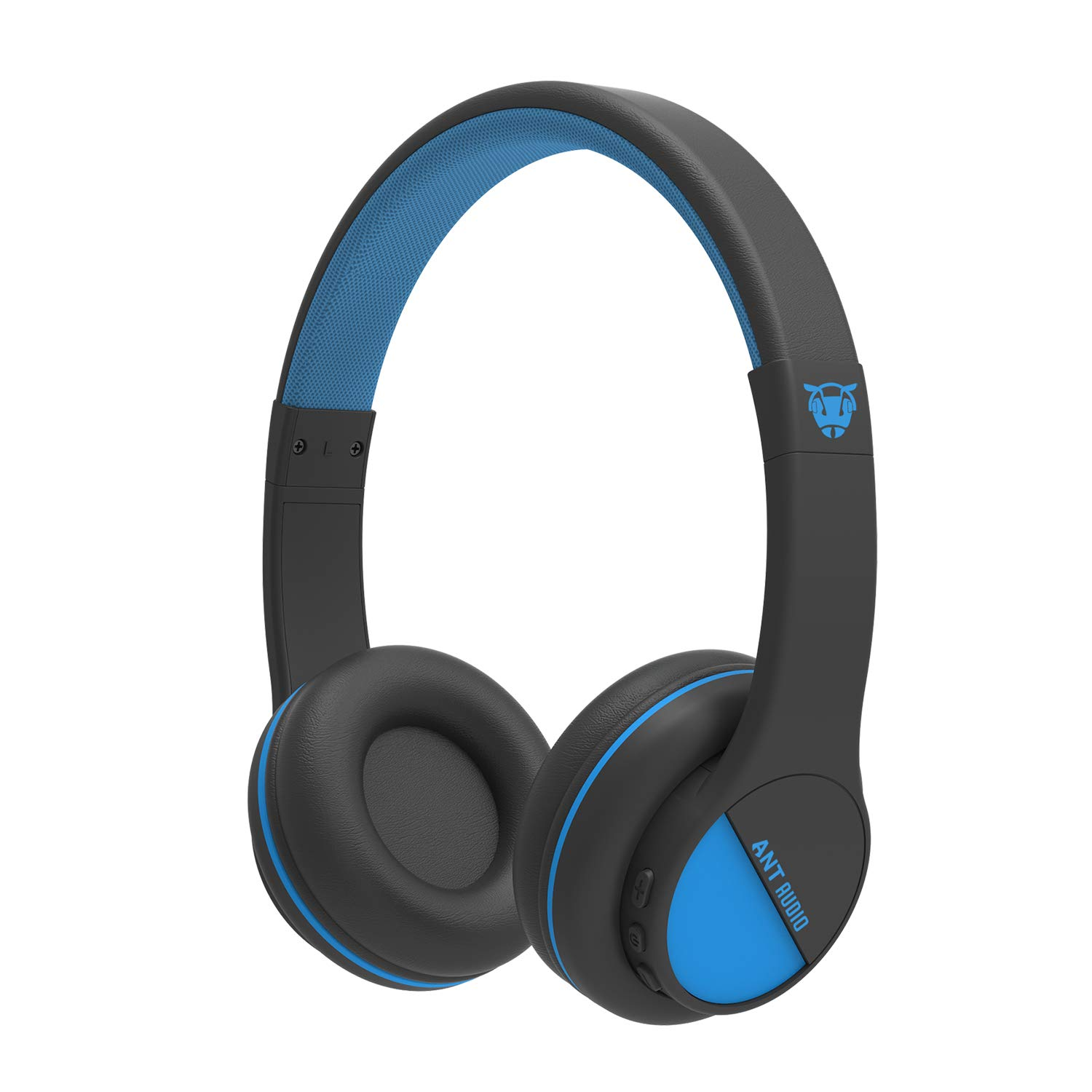 Ant Audio Treble 500 On -Ear HD Bluetooth Headphones with Mic (Black and Blue)