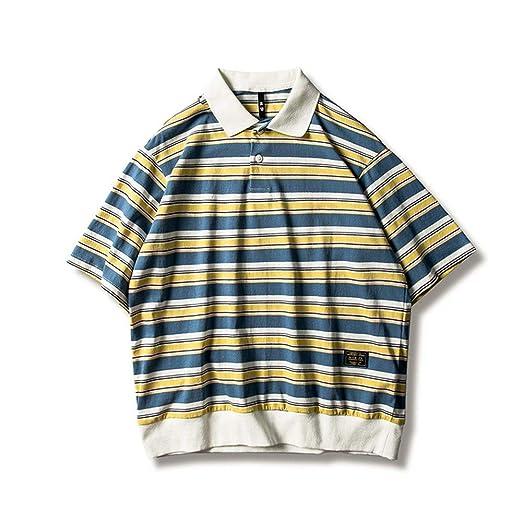 Camiseta para Hombre Camisa Polo a Rayas de Manga Corta for Hombre ...